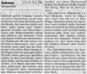 Subway - Bergstraße
